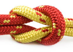 Creating Partnerships - knot in rope