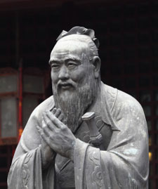 Values - Statue of Confucius